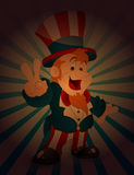 Uncle Sam Victory Sign Stock Photography