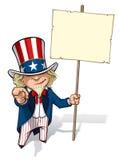 Uncle Sam Wünsche ich Sie beschildern stock abbildung