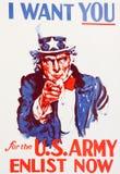 Uncle Sam Wünscht Sie Stockbilder