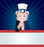 Uncle Sam Wants You!. Uncle Sam pointing. Perfect for a USA or Fourth of July illustration Stock Photography