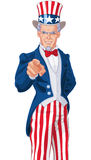 Uncle Sam Wants You!. Great illustration of Uncle Sam pointing Royalty Free Stock Image