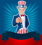 Uncle Sam Wants You! Royalty Free Stock Photography