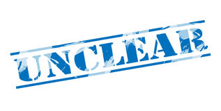 Unclear blue stamp. On white background Royalty Free Stock Photos