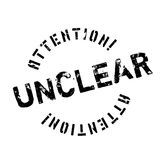 Unclear rubber stamp Royalty Free Stock Photo
