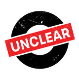 Unclear rubber stamp Royalty Free Stock Image