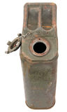 Unclosed rusty jerrycan Stock Images