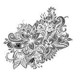 Uncolored hand drawn lined pattern Royalty Free Stock Image