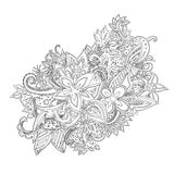 Uncolored hand drawn lined pattern Stock Images