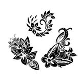 Uncolored hand drawn lined pattern Stock Image