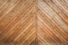 Uncolored wooden gate fragment Stock Photos