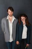 Uncomfortable Couple Royalty Free Stock Image