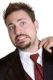 Uncomfortable Tuxedo Man royalty free stock photos