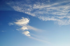 Uncommon clouds Stock Photo