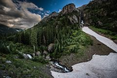 Engineer Pass part of Alpine Loop Colorado Uncompahgre River wit royalty free stock images