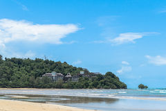 Uncompleted hotel at Niyang beach Stock Images