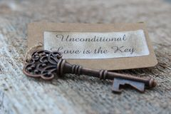 Unconditional love is the key royalty free stock images
