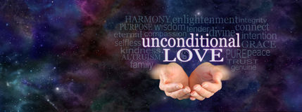 Unconditional Love Word Cloud Royalty Free Stock Image
