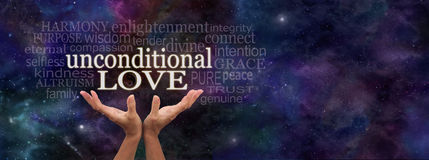 Unconditional Love Word Cloud Stock Image