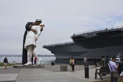 Unconditional Surrender - The Kiss Royalty Free Stock Images