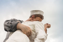 Unconditional Surrender Kiss statue in Sarasota Royalty Free Stock Image