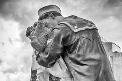 Unconditional Surrender Kiss statue in Sarasota Stock Photo