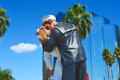 Unconditional surrender, Sarasota, Florida, USA. Unconditional surrender statue - sailor kissing a nurse, Sarasota, Florida, USA Royalty Free Stock Images