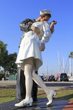 Unconditional Surrender Sculpture Stock Photo