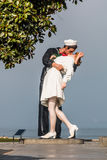 Unconditional Surrender Sculpture in San Diego Royalty Free Stock Photo