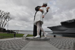 The Unconditional Surrender sculpture in San Diego, California Stock Photos