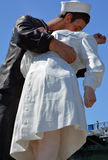 Unconditional Surrender sculpture. SAN DIEGO USA APRIL 8 2015: Unconditional Surrender sculpture at sea port in San Diego. By Seward Johnson, the statue Stock Photography