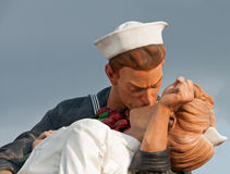 Unconditional Surrender Sculpture Sarasota Florida. This is a photograph of the sculpture in Sarasota Florida representing the famous photograph of a young Stock Images