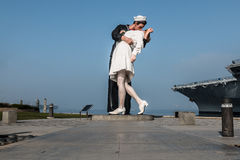 Unconditional Surrender Sculpture by Seward Johnson royalty free stock image