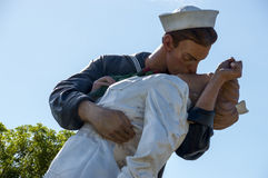 Unconditional Surrender statue. A closeup of a statue in Sarasota, Florida called Unconditional Surrender by sculptor Seward Johnson Royalty Free Stock Photo