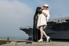 Unconditional Surrender Statue in San Diego Stock Photos