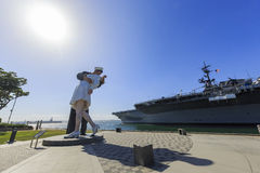 Unconditional Surrender Statue Royalty Free Stock Photo