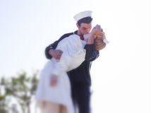 Unconditional Surrender statue Royalty Free Stock Image