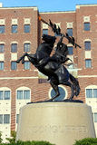 Unconquered. The Unconquered statue in front of Doak Campbell Stadium in Tallahassee, Florida. Home of the Florida State Seminoles Royalty Free Stock Photos