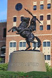 Unconquered Statue at FSU. Unconquered Statue at Bobby Bowden Field at Doak S. Campbell Stadium at Florida State University in Tallahassee, Florida Royalty Free Stock Images
