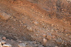 Unconsolidated flood deposits Stock Images