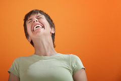 Uncontrollable Laughter Royalty Free Stock Images
