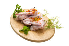Uncoocked chicken Stock Photography