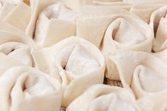 Uncook chinese dumpling Stock Photo
