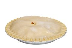 Uncooked apple pie Royalty Free Stock Images