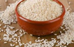 Uncooked arborio rice Stock Photography