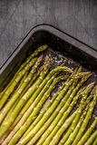 Uncooked asparagus spears Stock Photos