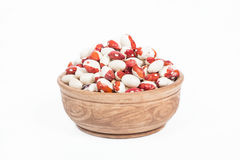 Uncooked bean in a dish Royalty Free Stock Photos