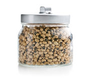 Uncooked beans in jar Royalty Free Stock Photography