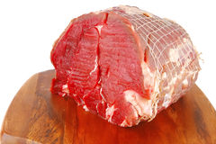 Uncooked beef meat on plate Stock Images