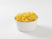 Uncooked bow tie pasta Stock Photo