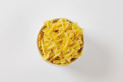 Uncooked bow tie pasta Stock Photography